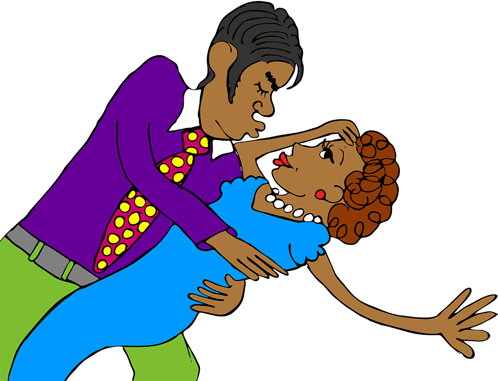 hispanic couple kissing
