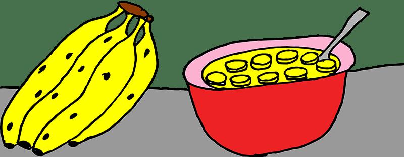 Bananas and pudding