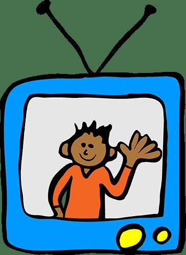 kid on tv screen
