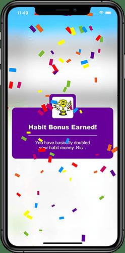 Moneypants app habit bonus