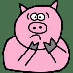 scared pig